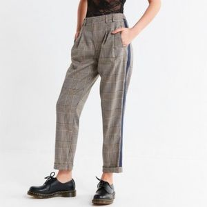 Urban Outfitters Pleated Front Striped Plaid Pants